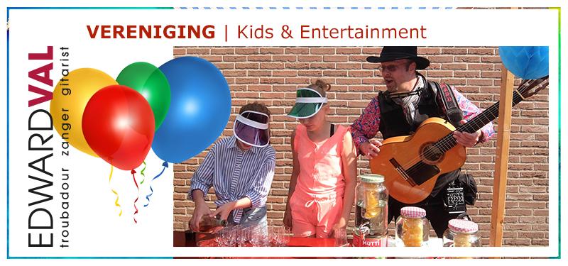 Zanger gitarist Edward Val kinderen kids entertainment animatie vermaak | Persoonlijk liedje humor inhuren