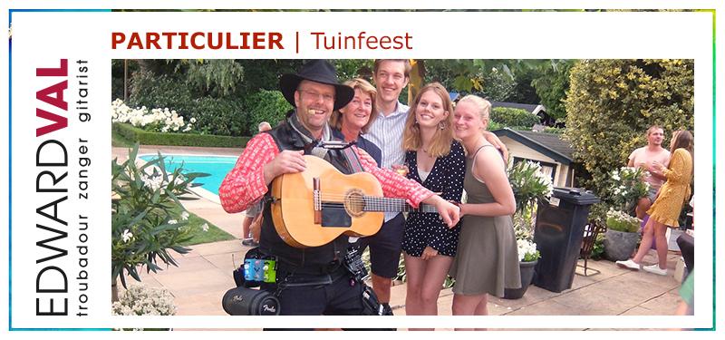 Zanger gitarist tuinfeest verjaardag bbq sfeermaker troubadour Edward Val inhuren Gelderland Utrecht Overijssel Noord Holland Brabant