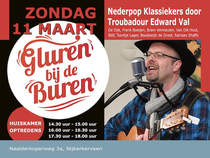 Zanger gitarist Edward Val Nijkerk | Gluren bij de Buren | Nederpop Klassiekers