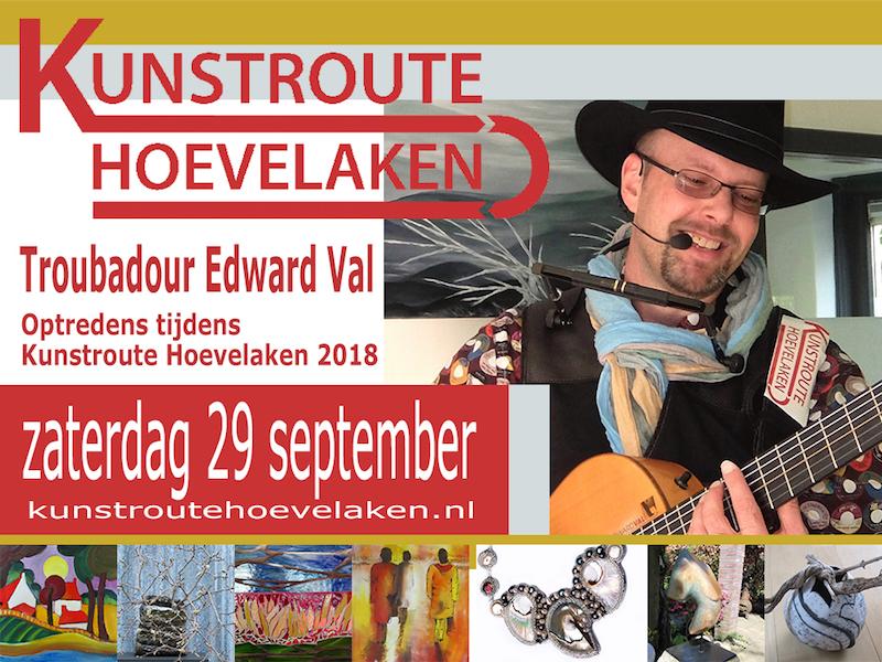 Kunstroute Hoevelaken 2018 | Troubadour Edward Val Nijkerk | Mobiele live muziek